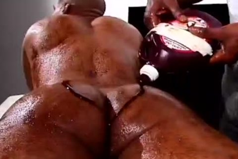Two darksome males With Food Fetish gangbang Hard