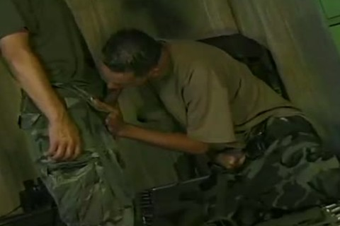 Ricki Torres And Eddie Gomez engulf And pound In Military Romp