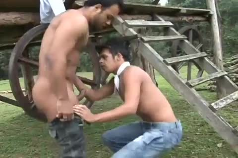 Latino males bare lusty gay booty In A Ranch