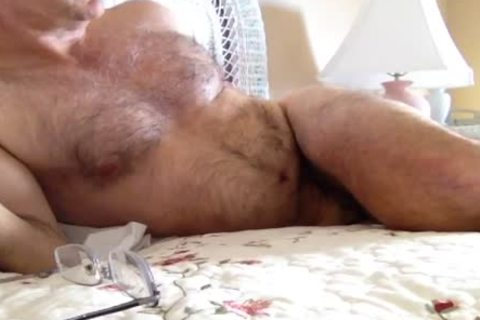 hairy pumped up Jerking