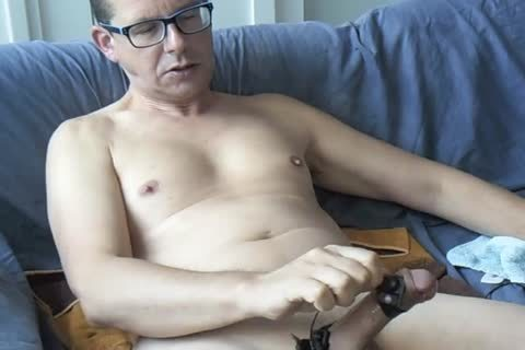 An Electro Stimulation Vid And I Jerk-off Till I shoot out My Second Load For This Day ;-)