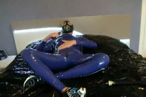 young stroking And Pissing In Blue Latex good large ramrod