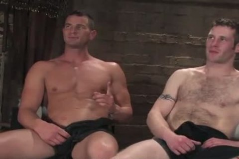 manacled In Wood gay arsehole Rougly nailed