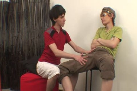 twink Joins homo lads For anal DP