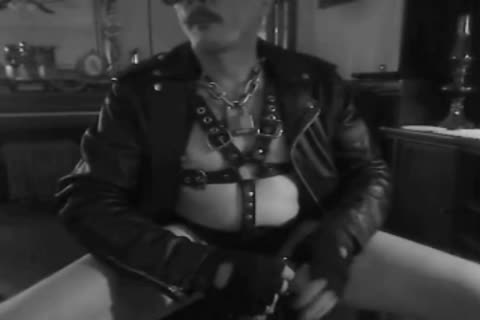 one greater quantity Horned Up Smoking Ball Stretching Session In My Leather Gear And Boots. With My tied Up dong And Stretched Balls On A Leash!!!