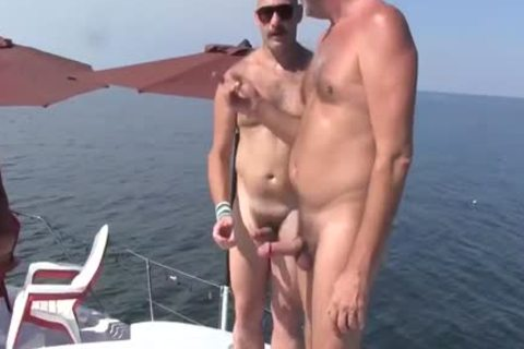 old man Has A raunchy Experience With A Younger man On A Boat