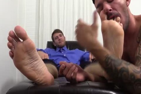 concupiscent Colby Jerks Hard penis During Foot Worship From Johnny