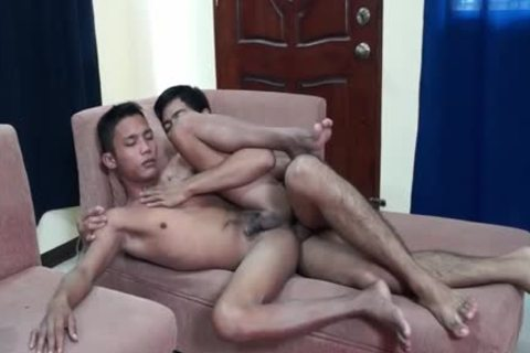 Two Hard Indonesian dudes plow Some stunning ass
