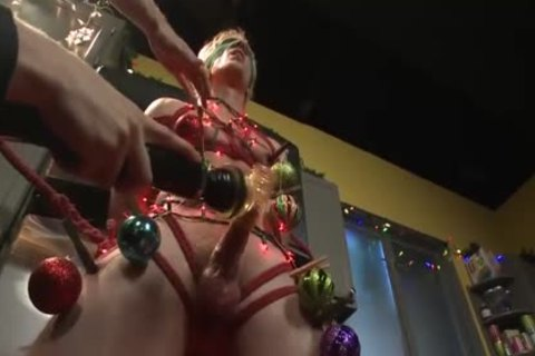 Christmas Edging For A Straight Hunk