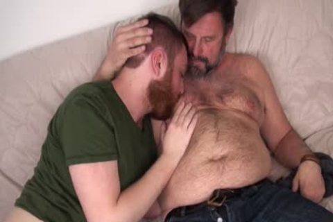 hairy Daddy Chris Mine pounds Colt Cox bare