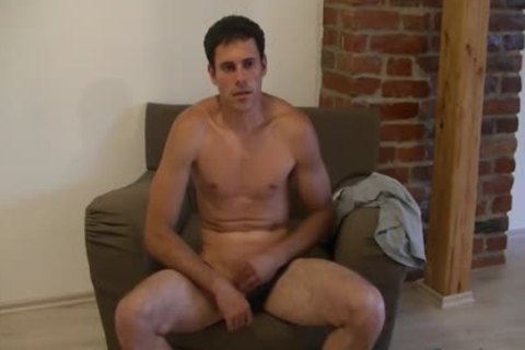 pretty boy Luka likes wanking His penis On A Comfy Chair