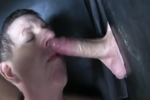 Super giant Uncut penis str8 Aussie Max receive's Sucked Off At The Gloryhole.