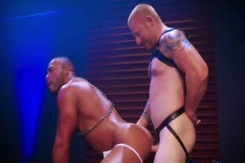 Leather Daddy Intensely Tops Sweaty black Hunk