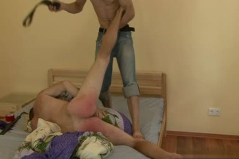 Russian twinks spanking With spunk flow