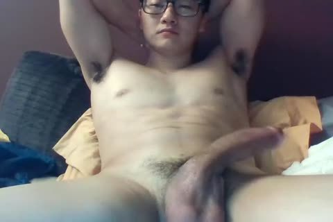 A large Dicked South Korean lad Jerks And Cums