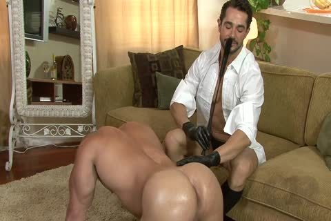 yummy lad On All Fours Used By Other lad In Gloves