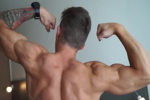 Muscle Hunk Flexing