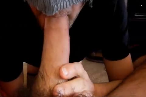 way-out close up of my cock getting unfathomable throated two/three
