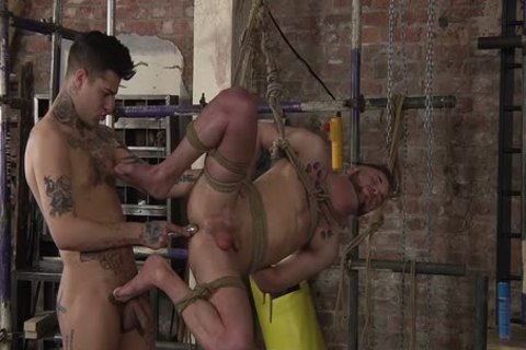 young homosexual Koby Lewis bound And pounded Hard By Mickey Taylor