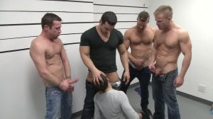 The Line Up - Landon Conrad with Trevor Knight ass Hook up