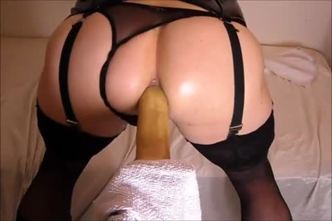 pounding My butthole With A dildo while In lingerie