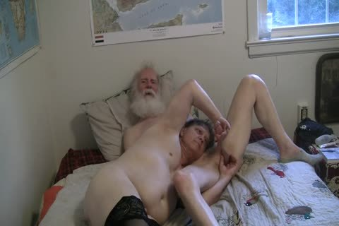 1of4 daddy Playing With His Sissy's clit And Filling Her Holes