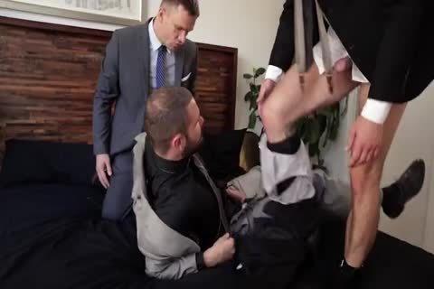 Suit fuck 3some
