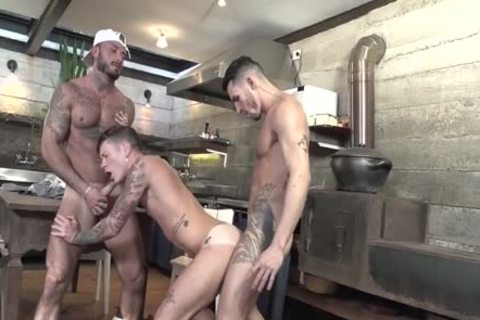 3some Latinos fucking In The Kitchen