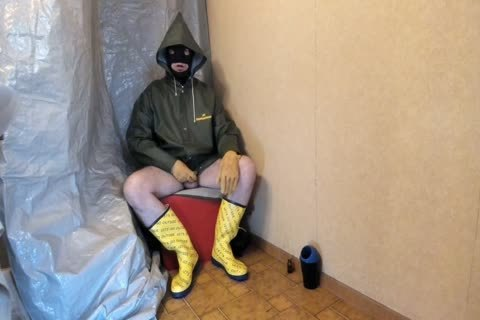 stroking In My Rubber And Oilskin