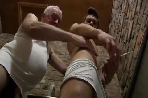 yummy Looking old man & young man suck Each Other In A Public