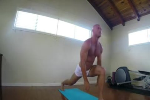SinsLife - big weenie dude gets Hard During Yoga