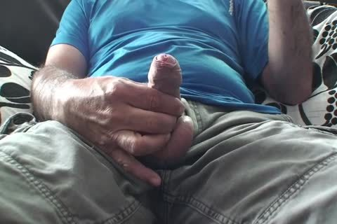 daddy S Playing With His big hirsute Uncut Foreskin 10-Pounder