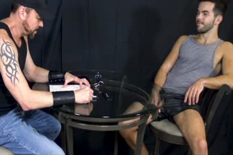 Bottom guy Riley Ross Blindfolded And Face-drilled