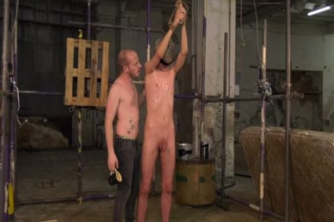 blond Skinny twink tied Up And Waxed By His taskmaster taskmaster