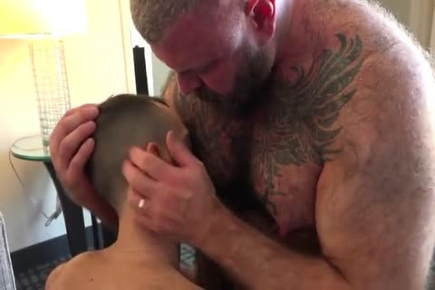 Daddy With stiff Suckable teats bone A young lad