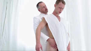 Missionary Boys - Young asian Elder Roberts sneak massage