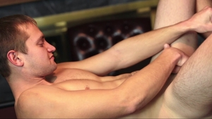 MissionaryBoys - Elder Titov in panties jerking balls