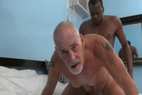 dark banging older man