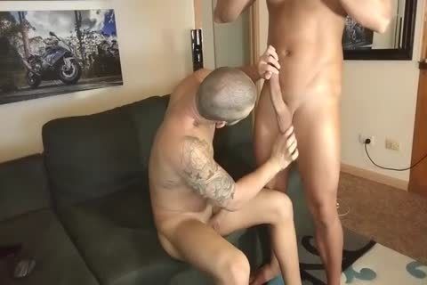 Muscle bare Creampie