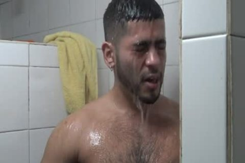 Hung Latino pounded In Gym Shower