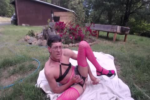 Outdoor sextoy & Shovel nail For sperm drinking CD Sissy Pantyboy