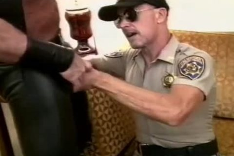 stunning Cop Unfathomable-face holes A rock hard dong And Makes It sex semen