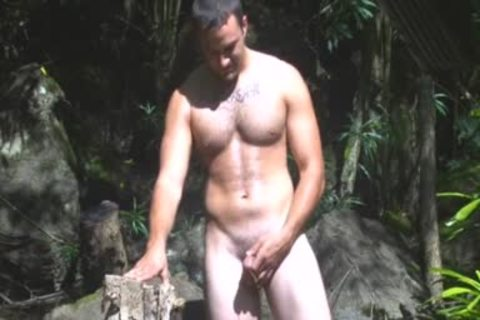 in nature's garb And Unafraid - undressed man National Park Pt2