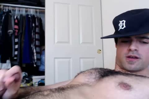 webcam cum: Straight hairy Daddy Jerks And Cums