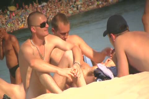 SPYING ON undressed males AT THE NUDIST BEACH - VOL 1