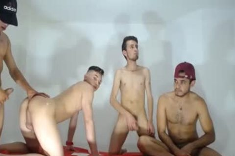 guys Have gangbang And Have fun Live