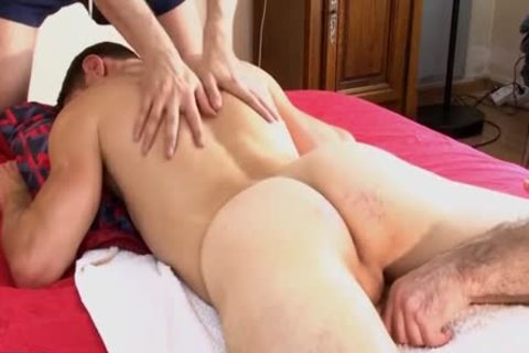 1rst Time In Porn, Straight Next Door chap gets Massages By 2 twinks !!!