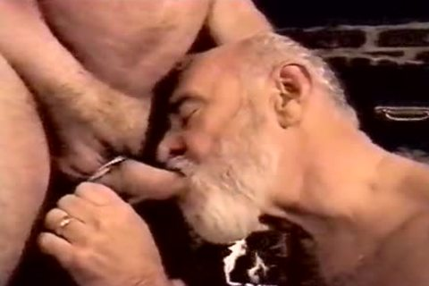 Two handsome older men enjoy fucking And sucking