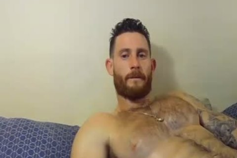 handsome And muscular dude Caressing His Hard penis