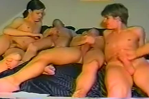 Vintage bdsm Grup guys oral pleasure stimulation banging Helpjerk
